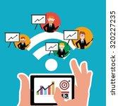 workforce illustration over... | Shutterstock .eps vector #320227235