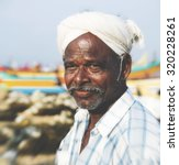 Small photo of Indian Fisherman Kerela India Tranquil Solitude Concept