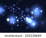 abstract molecular background....   Shutterstock .eps vector #320228684