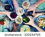 food beverage party meal drink... | Shutterstock . vector #320234705