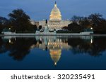 Stock photo view on capitol in washington dc on dusk 320235491