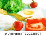 egg and cottage cheese with... | Shutterstock . vector #320235977