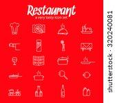 restaurant icon set collection... | Shutterstock .eps vector #320240081
