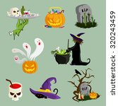 halloween decoration attributes ... | Shutterstock .eps vector #320243459