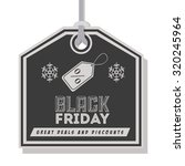 black friday concept with ... | Shutterstock .eps vector #320245964