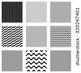 black vector simple seamless... | Shutterstock .eps vector #320247401