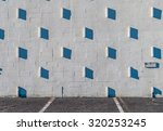 stucco wall with shadows....   Shutterstock . vector #320253245