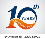 template logo 10th anniversary  ... | Shutterstock .eps vector #320253929