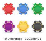 colored casino chips vector... | Shutterstock .eps vector #320258471