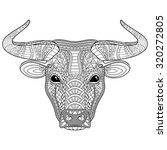 Vector Tribal Decorative Bull....
