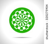 vector flat color target icon ... | Shutterstock .eps vector #320275904