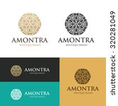 luxury boutique hotel logo... | Shutterstock .eps vector #320281049