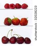 red fruit on shelve | Shutterstock . vector #32028223
