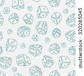 dice seamless background... | Shutterstock .eps vector #320285045