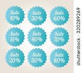 blue vector sale badge stickers ... | Shutterstock .eps vector #320289269