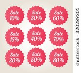 red vector sale badge stickers... | Shutterstock .eps vector #320289305