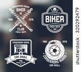 car repair and biker club... | Shutterstock .eps vector #320292479