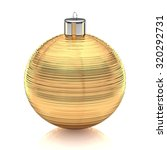 brushed gold xmas ball against... | Shutterstock . vector #320292731