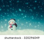 snowman  for card or background | Shutterstock . vector #320296049