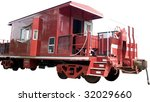 Red Caboose Isolated On White