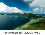 corals reef and islands seen... | Shutterstock . vector #320297969