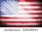 grunge usa flag | Shutterstock . vector #320298914