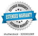 extended warranty 3d silver... | Shutterstock .eps vector #320301089