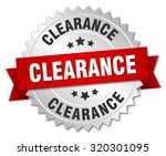 clearance 3d silver badge with... | Shutterstock .eps vector #320301095