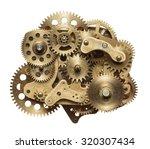 Metal Collage Of Clockwork...