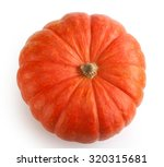 Isolated Orange Pumpkin On The...