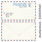 postcard letter to santa | Shutterstock .eps vector #320335565