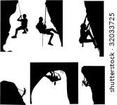 rock climbing   vector | Shutterstock .eps vector #32033725