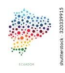 dotted texture ecuador vector... | Shutterstock .eps vector #320339915
