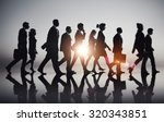 business people commuting rush... | Shutterstock . vector #320343851