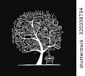 book tree  sketch for your... | Shutterstock .eps vector #320358734