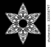 abstract ornamental flower on...   Shutterstock .eps vector #320358797