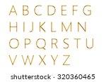 gold alphabet on white... | Shutterstock . vector #320360465