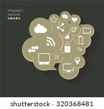graphic media icons vector with ... | Shutterstock .eps vector #320368481