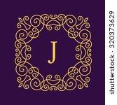 vintage floral frame for your... | Shutterstock .eps vector #320373629