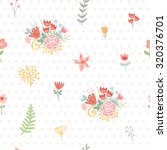 wedding floral seamless... | Shutterstock .eps vector #320376701