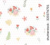 wedding floral seamless... | Shutterstock .eps vector #320376701