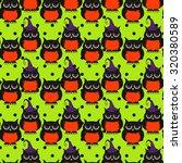 seamless halloween pattern ... | Shutterstock .eps vector #320380589