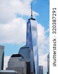 Manhattan Skyline With Freedom...