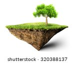 floating island with tree 3d... | Shutterstock . vector #320388137