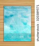 open air party celebration... | Shutterstock .eps vector #320389571