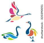 stylized geese | Shutterstock .eps vector #320390051