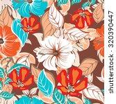seamless flower background  ... | Shutterstock .eps vector #320390447