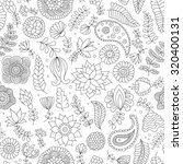 seamless pattern with black and ... | Shutterstock .eps vector #320400131
