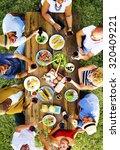 friends friendship outdoor... | Shutterstock . vector #320409221