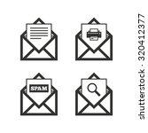 mail envelope icons. print...   Shutterstock .eps vector #320412377